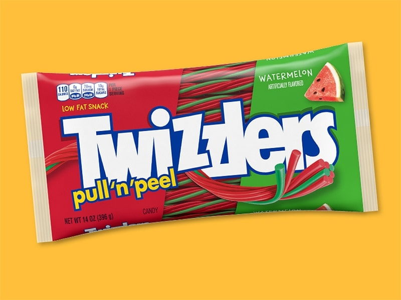 TWIZZLERS PULL 'N' PEEL Candy Watermelon