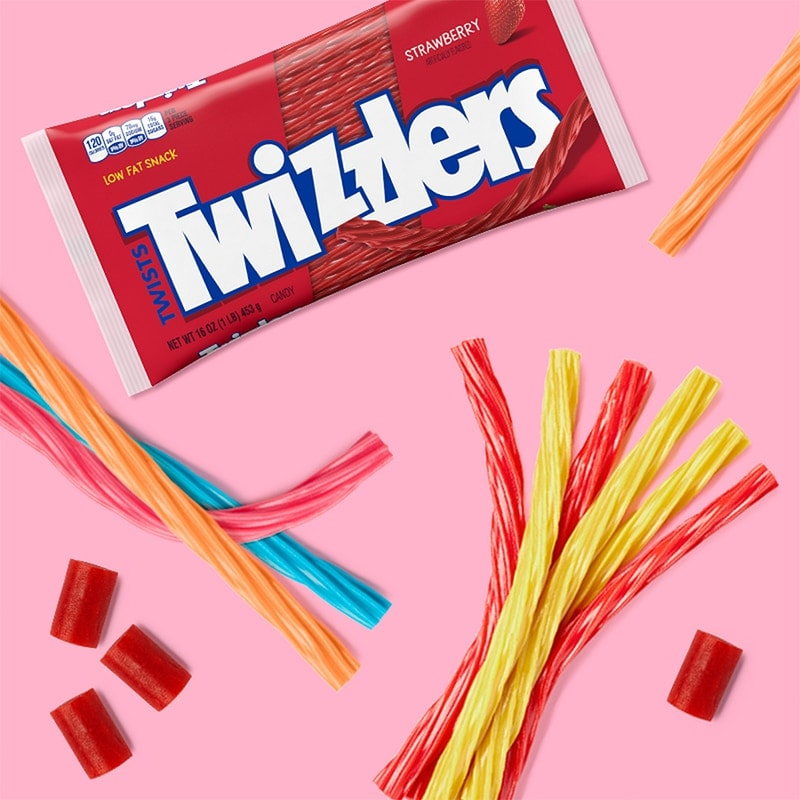 Twizzlers Twists in a variety of flavors