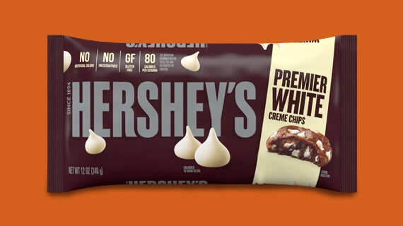 HERSHEY'S Premier White Creme Chips