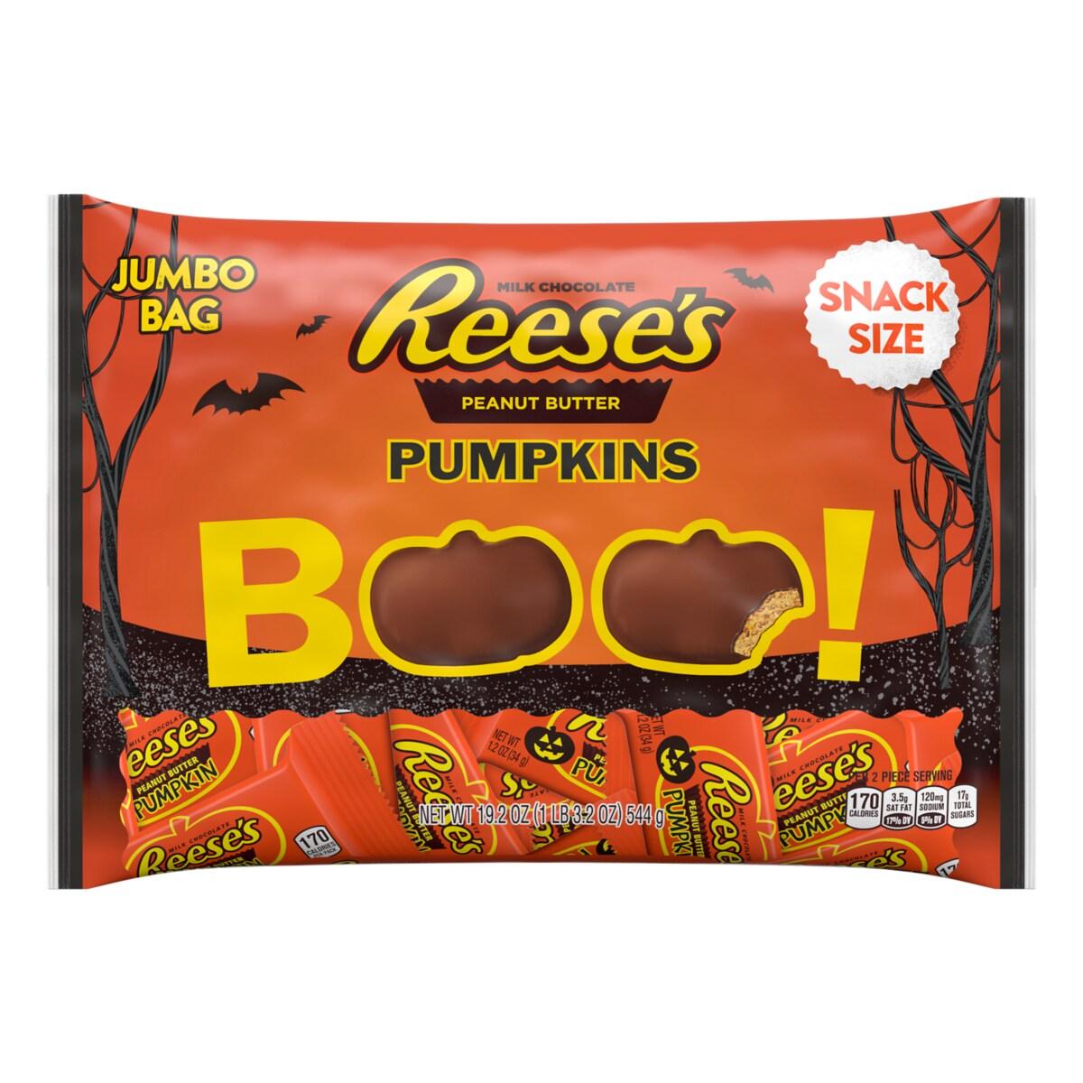 REESE'S | Halloween Snack Size Peanut Butter Pumpkins ...