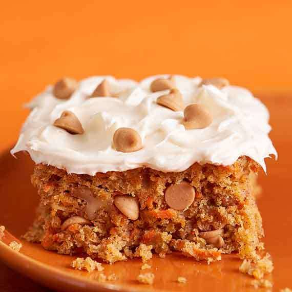 Easy Mouthwatering Carrot Cake with REESE'S Peanut Butter Chips Recipe