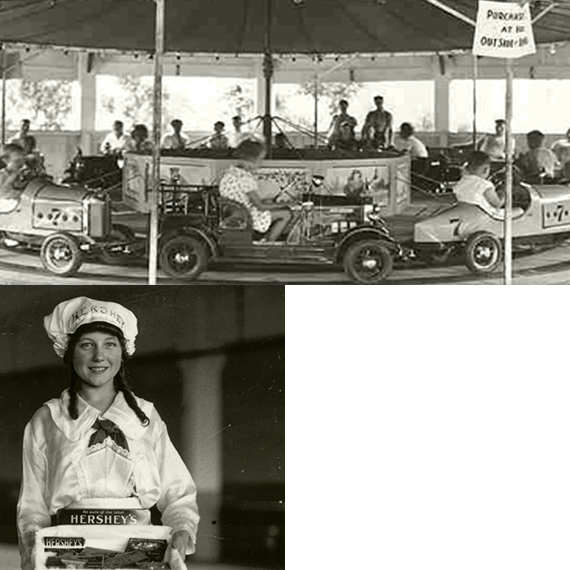 1906 Hersheypark car carousel and employee