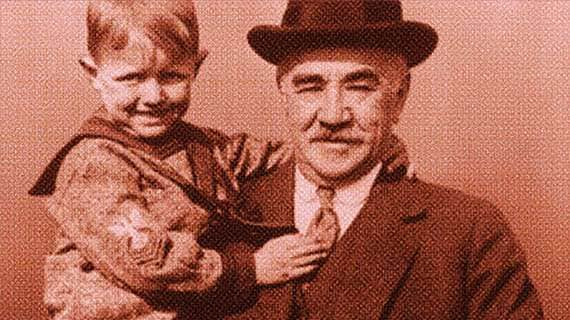 Milton Hershey holding child