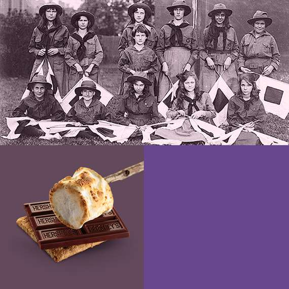 1927 Girl Scout Troop and HERSHEY'S S'more