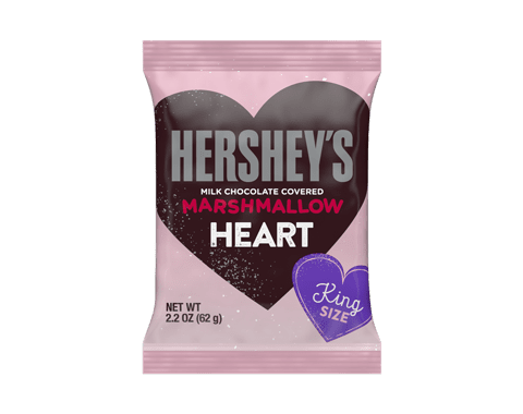 HERSHEY'S Chocolate Covered Marshmallow Heart King Size