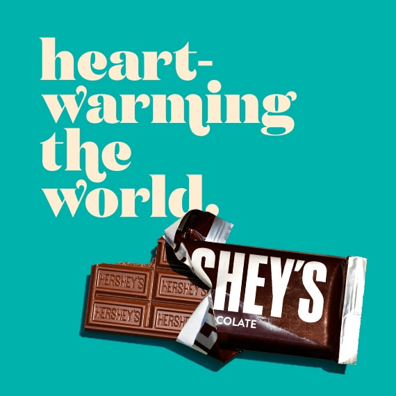HERSHEY'S has always warmed hearts.