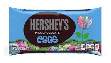 HERSHEY'S Solid Milk Chocolate Eggs, 10 oz.