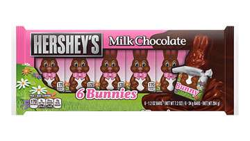 HERSHEY'S Milk Chocolate Bunnies 6-Pack