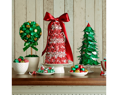 Holiday Candy Topiaries