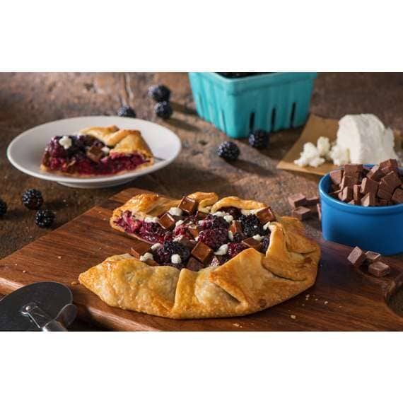 Chocolate and Goat Cheese Galette with Blackberries Recipe