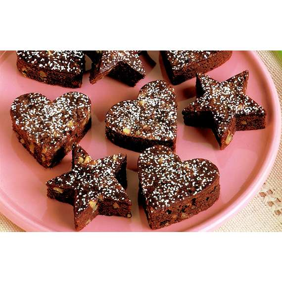 Low Fat and Fudgey Brownie Cut-Outs
