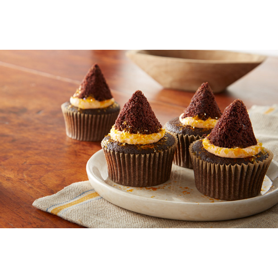 Witch's Hat Chocolate Cupcakes