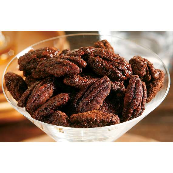Spicy Cocoa Glazed Pecans