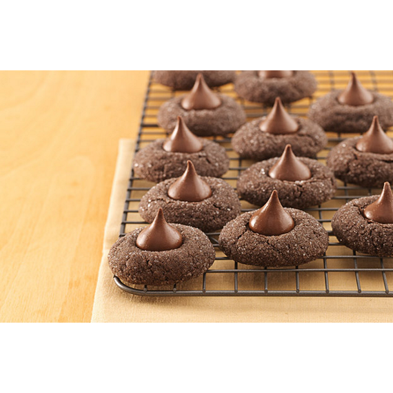 HERSHEY'S KISSES Chocolate Blossom Cookies