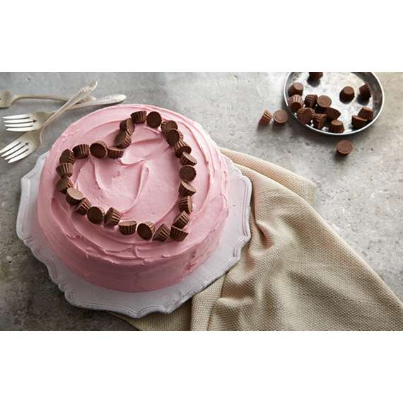 Peanut Butter Cup Heart Valentine Cake