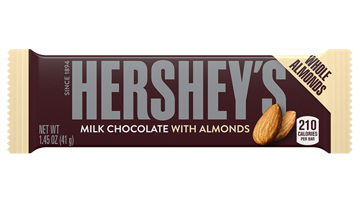 HERSHEY'S Milk Chocolate with Almonds Bars Standard Size