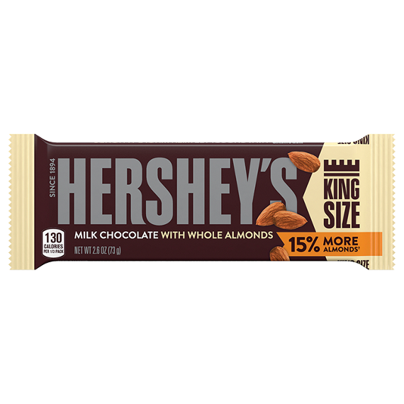 HERSHEY'S Milk Chocolate with Almonds Bars King Size