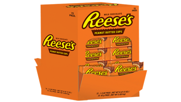 REESE'S Peanut Butter Cups Standard Size 72ct. Counter Unit