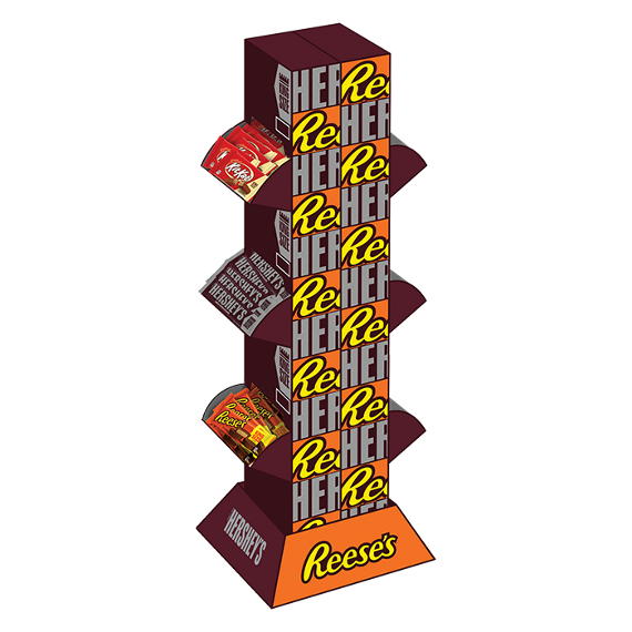 Hershey Assorted King Size 118ct. Tower
