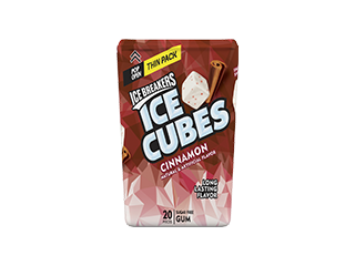ICE BREAKERS ICE CUBES Cinnamon Gum Thin Pack