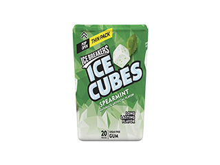 ICE BREAKERS ICE CUBES Spearmint Gum Thin Pack