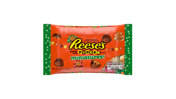 REESE'S STUFFED WITH PIECES Holiday Miniatures Milk Chocolate Peanut Butter Cups, 9.6 oz bag